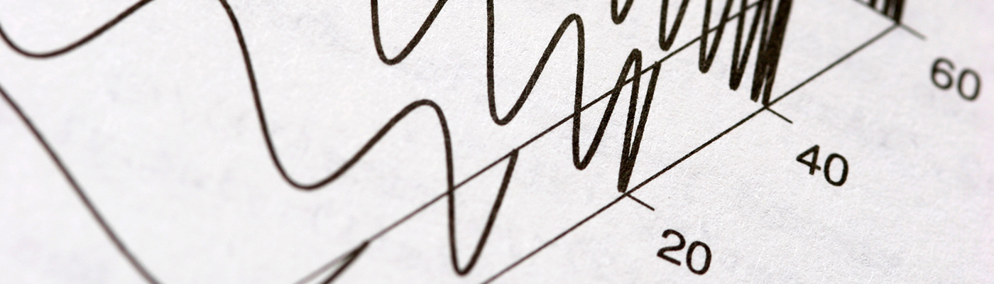 Close-up of graph lines on paper